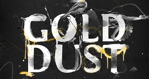 gold dust 500x266 50 Remarkable Examples of Typography Design #2