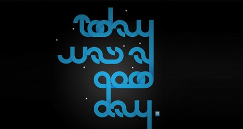good day 500x266 50 Remarkable Examples of Typography Design #2