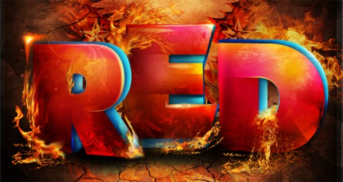 red fire 500x266 50 Remarkable Examples of Typography Design #2