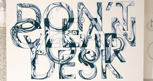 your desk 500x266 50 Remarkable Examples of Typography Design #2