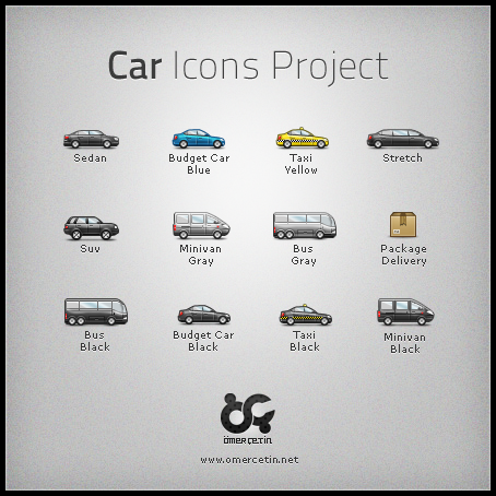 Car Icons Project by omercetin1 50 Pixel Perfect Icons Sets for Your Collection!