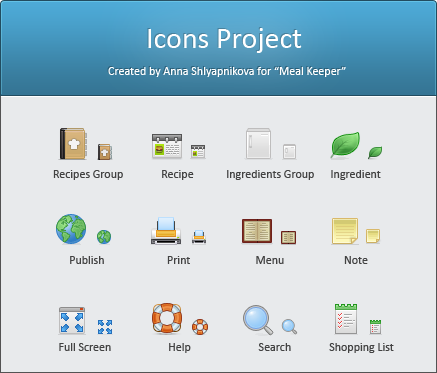Icon for MealKeeper  s soft by shlyapnikova1 50 Pixel Perfect Icons Sets for Your Collection!