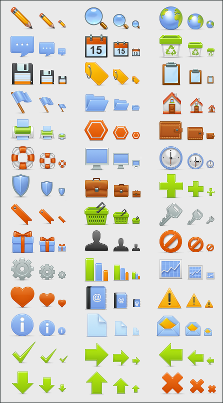 basic set21 50 Pixel Perfect Icons Sets for Your Collection!