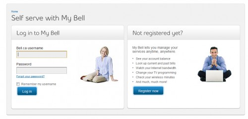 bell.ca  500x240 45 Eye Catching Login/SignUp Forms