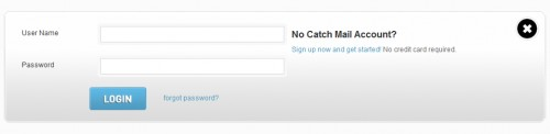 catchmail 500x122 45 Eye Catching Login/SignUp Forms