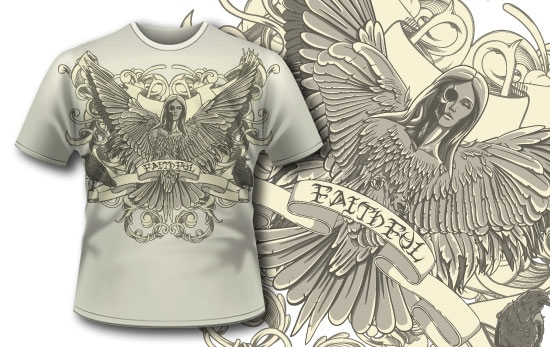 designious t shirt 296 death seraphim1 Designious.com – High Quality Stock Graphic Files