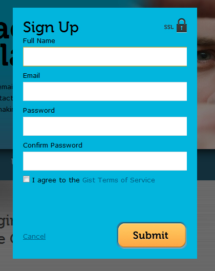 gist 45 Eye Catching Login/SignUp Forms
