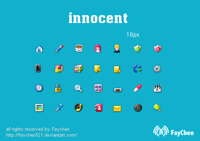 innocent 16px icon by Faychen5211 50 Pixel Perfect Icons Sets for Your Collection!
