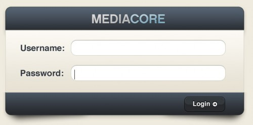 mediacore 500x247 45 Eye Catching Login/SignUp Forms