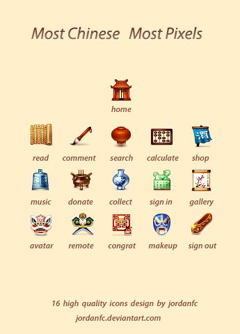 most chinese  most pixels by jordanfc1 50 Pixel Perfect Icons Sets for Your Collection!