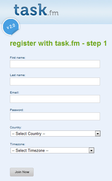 task.fm  45 Eye Catching Login/SignUp Forms