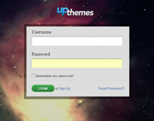 yp themes 500x392 45 Eye Catching Login/SignUp Forms