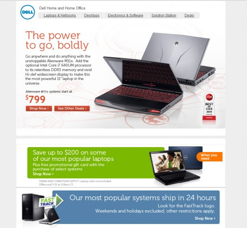 Dell 500x462 45 Eye Opening Examples of Email Newsletter Designs