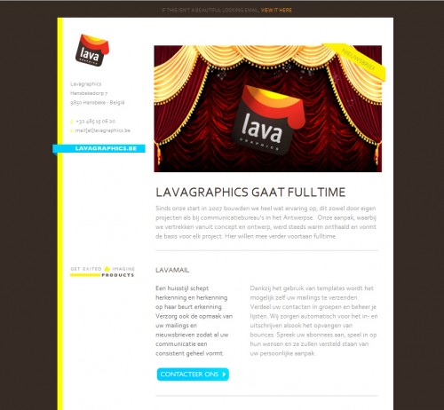 Lava 500x462 45 Eye Opening Examples of Email Newsletter Designs