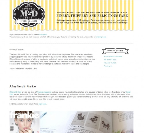Mitchell and Dent 500x462 45 Eye Opening Examples of Email Newsletter Designs
