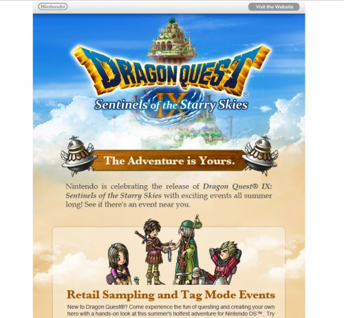 Nintendo 500x462 45 Eye Opening Examples of Email Newsletter Designs