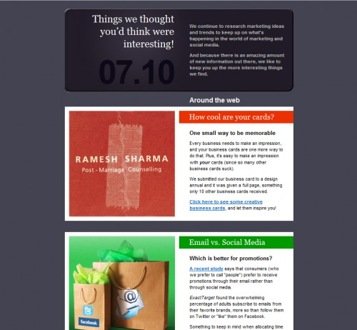 Sevell + Sevell Inc 500x462 45 Eye Opening Examples of Email Newsletter Designs