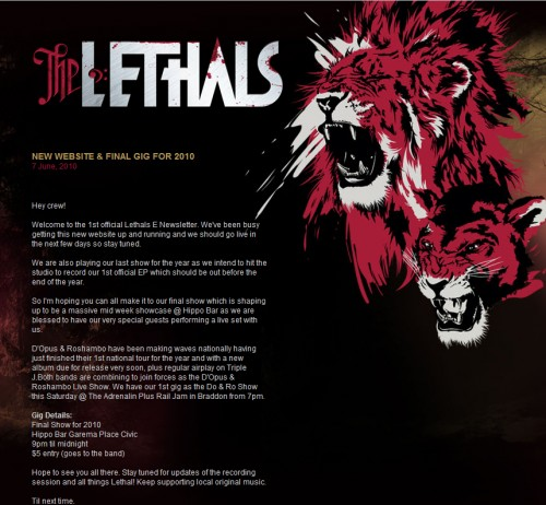 The Lethals 500x462 45 Eye Opening Examples of Email Newsletter Designs