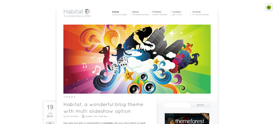 habitat 25 Brilliant Business and Portfolio WordPress Themes