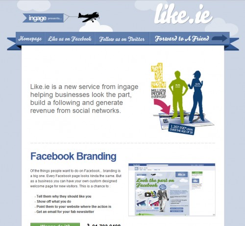 like.ie  500x462 45 Eye Opening Examples of Email Newsletter Designs
