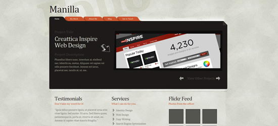 manilla 25 Brilliant Business and Portfolio WordPress Themes