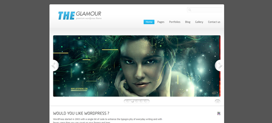 the glamour 25 Brilliant Business and Portfolio WordPress Themes