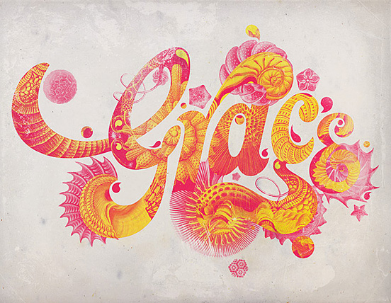 Grace l1 50 Remarkable Examples Of Typography Design #3