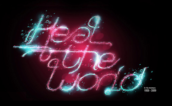 Heal the world l1 50 Remarkable Examples Of Typography Design #3