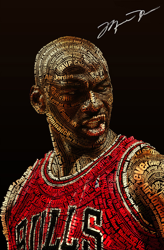 Michael Jordan Typeface l1 50 Remarkable Examples Of Typography Design #3
