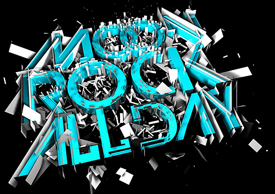 Moon Rock All Day l1 50 Remarkable Examples Of Typography Design #3
