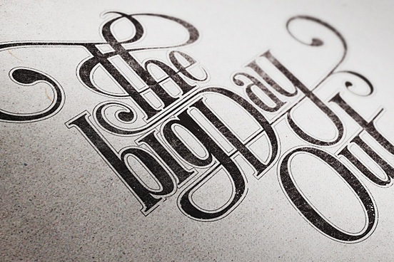 The Bigday out l1 50 Remarkable Examples Of Typography Design #3