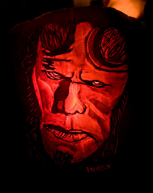 hellboy 65 Creative Pumpkin Carving Designs