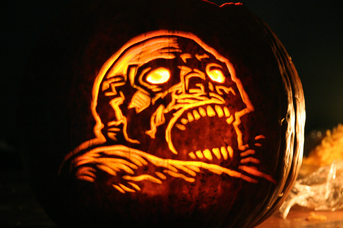zombie 65 Creative Pumpkin Carving Designs