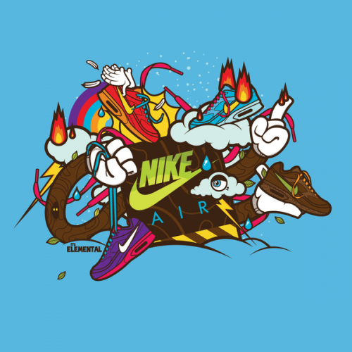 26e587c5b0b8cd7dd2a8a7aabd373c271 500x500 40 Spectacular Examples of Nike Artworks