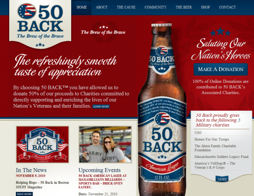 50back 500x386 31 Creative Beer Based Websites
