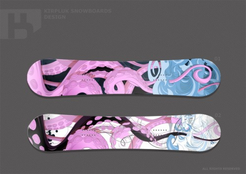 956141262087301 500x353 50 Beautiful Examples of Snowboard Designs