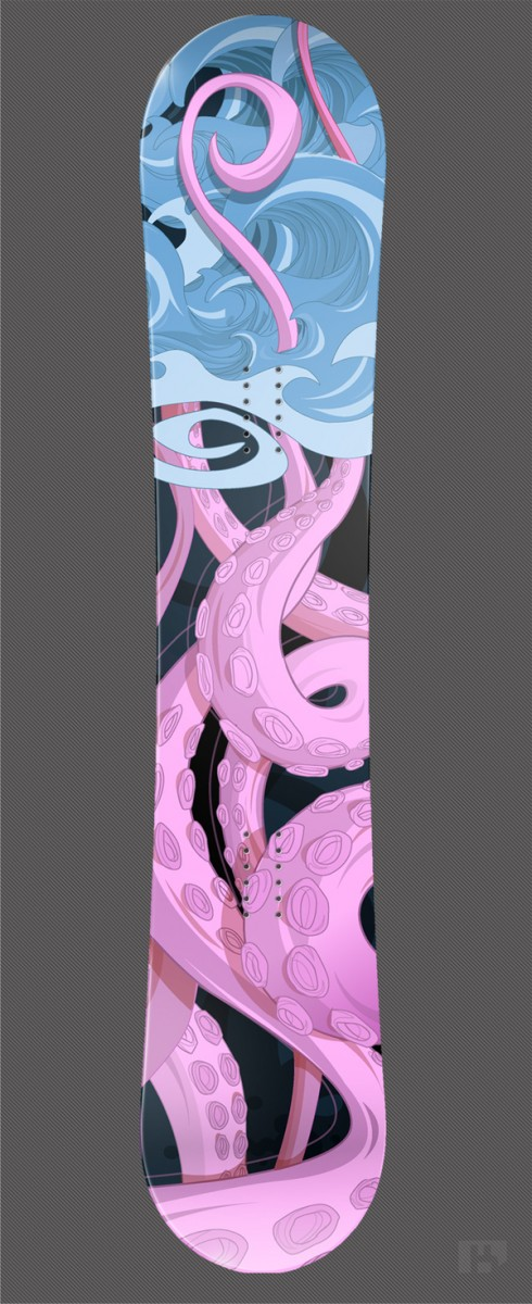 956141262087629 490x1200 50 Beautiful Examples of Snowboard Designs