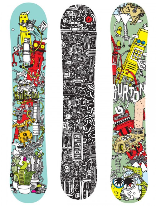 967111236348636 500x660 50 Beautiful Examples of Snowboard Designs