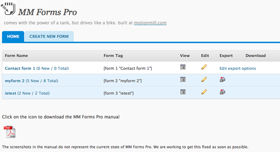 MM forms Pro Top 10 WordPress Contact Form Plugins