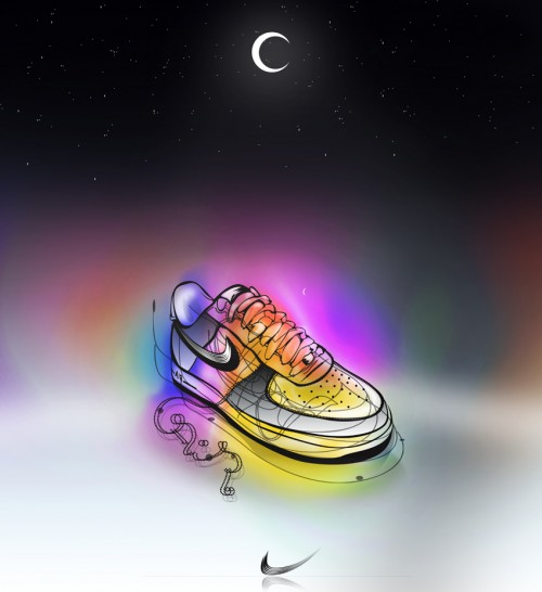 NIKE by endemo1 500x546 40 Spectacular Examples of Nike Artworks
