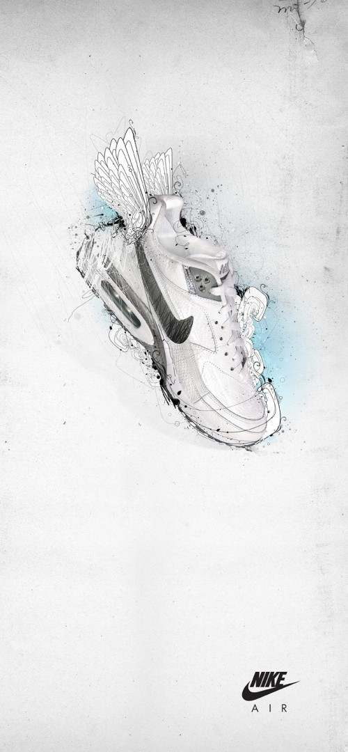 Nike Air Lab II by he1z1 500x1080 40 Spectacular Examples of Nike Artworks