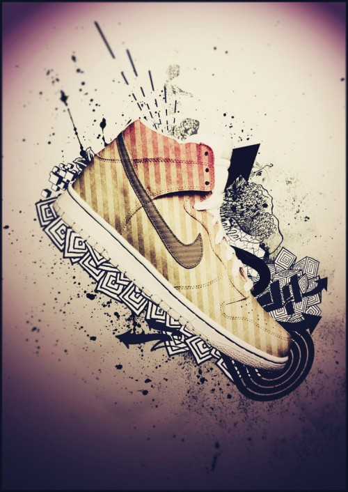 Nike Dunk by LunaticKio1 500x706 40 Spectacular Examples of Nike Artworks
