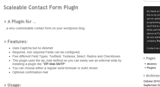 Scaleable Contact Form Plugin Top 10 WordPress Contact Form Plugins