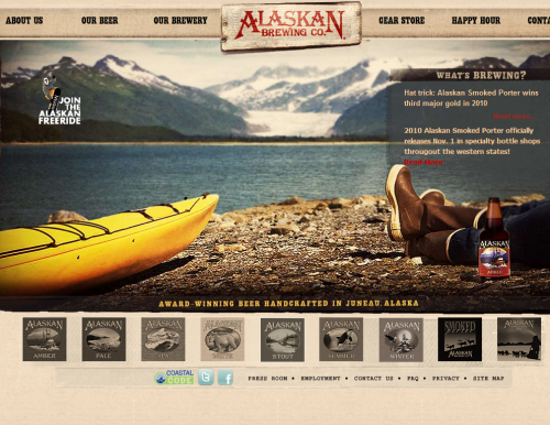 alaskanbeer 500x386 31 Creative Beer Based Websites