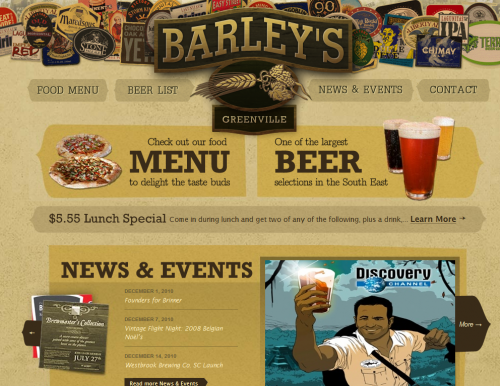 barleysgville 500x386 31 Creative Beer Based Websites