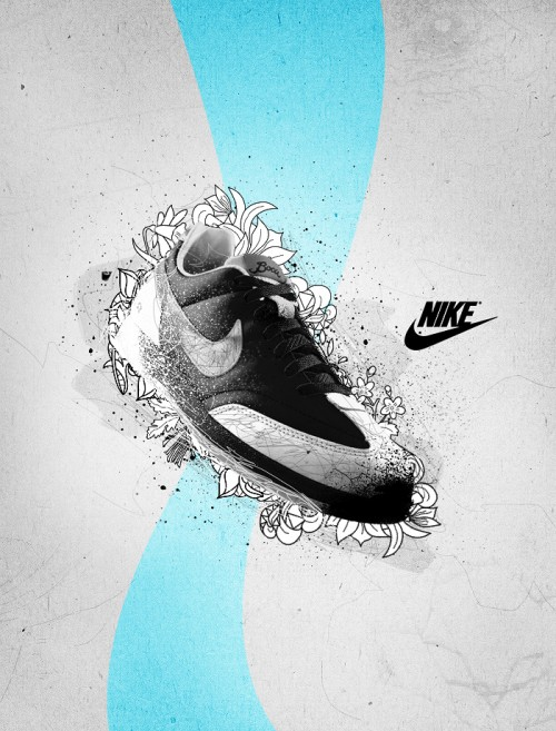 bbe86fe7be2d683407d7fb53acc5d2f71 500x657 40 Spectacular Examples of Nike Artworks