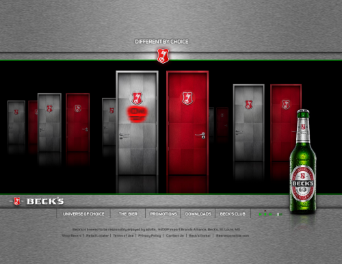 becksbeer 500x386 31 Creative Beer Based Websites
