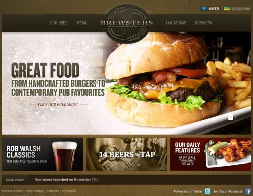 brewsters 500x386 31 Creative Beer Based Websites