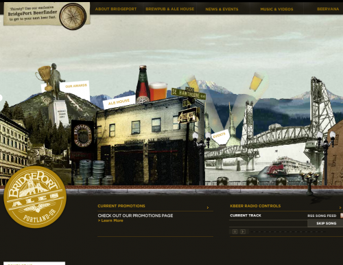 bridgeportbrew 500x386 31 Creative Beer Based Websites