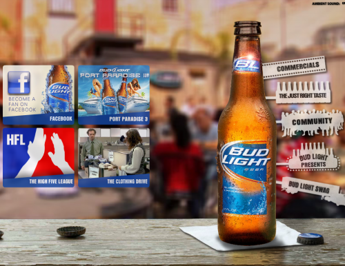 budlight 500x386 31 Creative Beer Based Websites